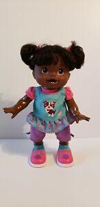HASBRO Baby Alive African American Wanna Walk Interactive Talking Walking Doll