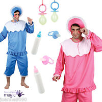ADULT MENS FUNNY BIG CRY BABY ROMPER SUIT STAG BOTTLE FANCY DRESS COSTUME LOT