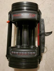 POWERBLOCK EXP - Single Adjustable Dumbbell (5-50 pounds) - Used
