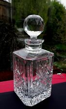 LUXURY CUT CRYSTAL Square Decanter GIN WHISKY HANDCRAFTED QUALITY PRESENT TROPHY