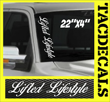 0061    Lifted Lifestye VERTICAL Windshield Vinyl Side Decal Sticker Car Truck