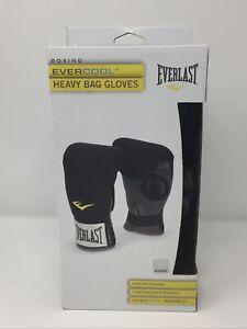 Everlast Evercool Neoprene Heavy Bag Gloves Heavy Bag and Mitt Workout Black NEW