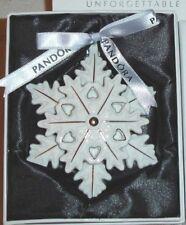 Pandora Christmas Tree Decoration Snowflake Star Porcelain 2015 RETIRED NIB 🎁