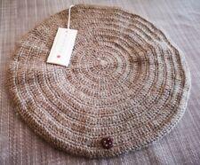 🐞esencia beret hat, girls, alpaca wool, mocha brown, 5-6 yrs