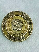 CADILLAC LAPEL PIN VINTAGE TRADITION TECHNOLOGY TOGETHER