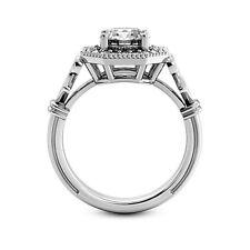 Halo 1.37 Carat VS2/G Round Cut Real Diamond Engagement Ring 14K White Gold