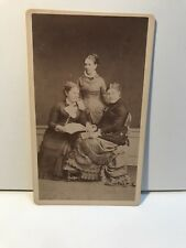 Trois Femmes Photo Martin Flammarion Moulins Allier Cdv Vintage Albumine