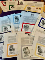 12 First Day of Issue, Postal Commemorative Society Covers,