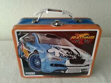 HOT WHEELS RACING CARS Metal Tin Lunch Box CARRY ALL Kids Storage Bag