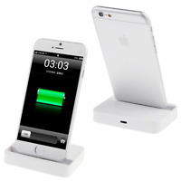 New Desktop Charging Dock Stand Charger For Apple iPhone 7 6s 6 & Plus White