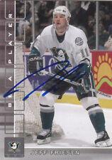 Jeff Friesen Autograph BAP Ducks Card Devils - Eisbaren Berlin