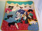 OOAK Handmade Ethnic Tapestry, Wall Hanging. 7 People, 7 Animals in Nature 20x20