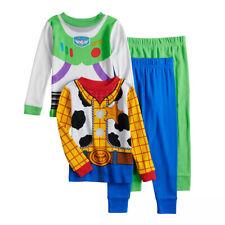 Disney Toy Story Buzz Woody Costume Boy 4PC Tight Fit Short Sleeve Pajama Set 4T