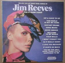 LP Jim Reeves Golden Hits Sung By Johnny Cassidy Uk 1974 Boulevard Records Nm
