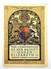 Coronation of Her Majesty Queen Elizabeth II Approved Souvenir Programme N018