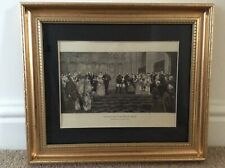Antique 1887 Print of The Marriage of the Duke of Albany. From
