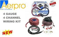 AERPRO BSX404 4 AWG GAUGE 4-CHANNEL 650W AMPLIFIER WIRING INSTALLATION KIT AMP