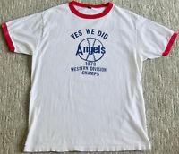 Vintage 1979 CALIFORNIA ANGELS Ringer T Shirt los angeles.anaheim.baseball.mlb