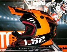 LS2 MX 456 Cross Helm Enduro Motocross Rallie BMX DH light KTM Orange SXF UFO SX