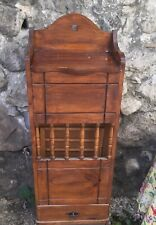 Vintage French Wicker Wood BAGUETTE BREAD Box Storage Basket Pantry Potato Onion