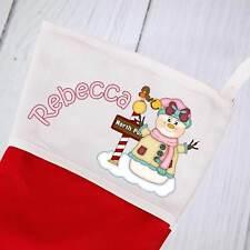 Personalised Christmas Stocking - Snowman 2 design