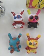 "Kidrobot ANDY WARHOL DUNNY 3"" VINYL FIGURES Series 1 Pop Art Brillo *Open Boxes"