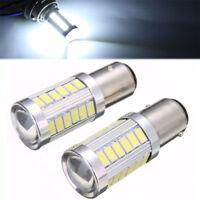 2x 12V BA15D P21W 1157 33SMD LED Car Backup Reverse Head Light CANBUS Bulb-