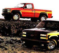 1990 CHEVY PICKUP TRUCK DELUXE BROCHURE-SS454-C1500-K1500-C2500-K2500-C3500