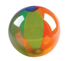 "3 RAINBOW BEACH BALLS 16"" Transparent Pool Party Beachball #SR8 Free Shipping"