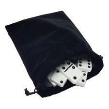 Domino Double Six 6 White Big Tournament Pro Size Spinners Deluxe Velvet Bag
