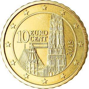 [#766437] Autriche, 10 Euro Cent, 2015, SPL, Laiton