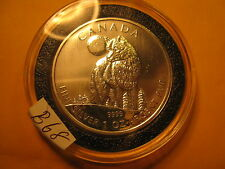 CANADA  RARE 2011 TIMBER WOLF 1 OZ FINE SILVER  $5 COIN ID#B68
