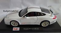 NEW MAISTO 1:18 Scale Diecast Model Car - Porsche  911 GT3 RS 4.0 - White