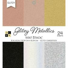 "DCWV Glitzy Metallics 6""x6"" Cardstock Stack 24 sheets PS-006-00130"