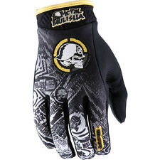 M Medium METAL MULISHA VOLT MX Gloves Motorbike BMX Black Yellow White
