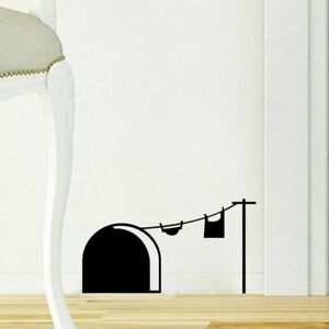 Wall Decal Mouse Stickers Hole Mice Cartoon Skirting Diy Decoration Kids Decor