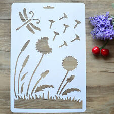 Dandelion Layering Flower Art Drawing Stencil Template DIY Craft Painting Mold