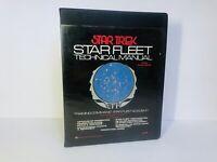 Star Trek Star Fleet Technical Manuel 1st Ed; Black Vinyl Cover EXCELLENT!