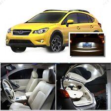 For Subaru XV Crosstrek 2013-15 White LED Interior kit + White License Light LED