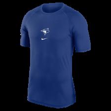 Мужские Торонто Блю Джейс королевский переменного тока дышать короткий рукав производительность MLB футболка