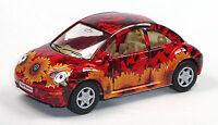 NEU: VW New Beetle Hippie-Look Flowers Volkswagen Sammlermodell 1:32 v. KINSMART