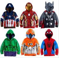 Kids Marvel Superhero Iron Man Thor Hulk Captain America Spiderman Sweatshirts