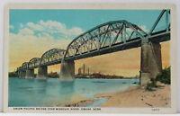Omaha Union Pacific Railroad Bridge Nebraska 1925 Postcard (F368L)