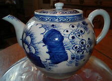 teapot Porcelaine bleu de huê grande theière 19éme