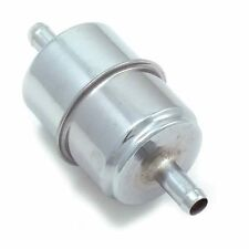 CHROME CANISTER UNIVERSAL FUEL FILTER 5/16 & 3/8 NON EFI 5965