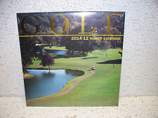 2014 Golf 12 Month Calendar Sealed NEW!!