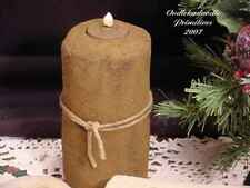 Primitive Fabric Pillar Candle Table Topper Christmas Holiday Pattern