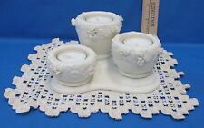 Partylite Rose Urn Tealight Candle Holder Includes Candles & Vintage Doily