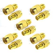 10pcs SMA male plug To RP-SMA female plug Straight RF Connector Adapter