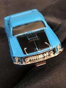 #1415 FORD MUSTANG MACH I 1969 MEDIUM BLUE/BLACK/CHROME Vintage Aurora TJET 500